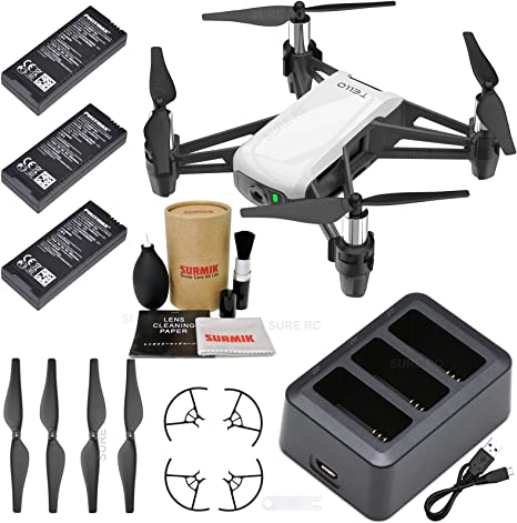 Tello Drone Quadcopter Boost Combo with 3 Batteries, Charging Hub, and Drone Care Kit