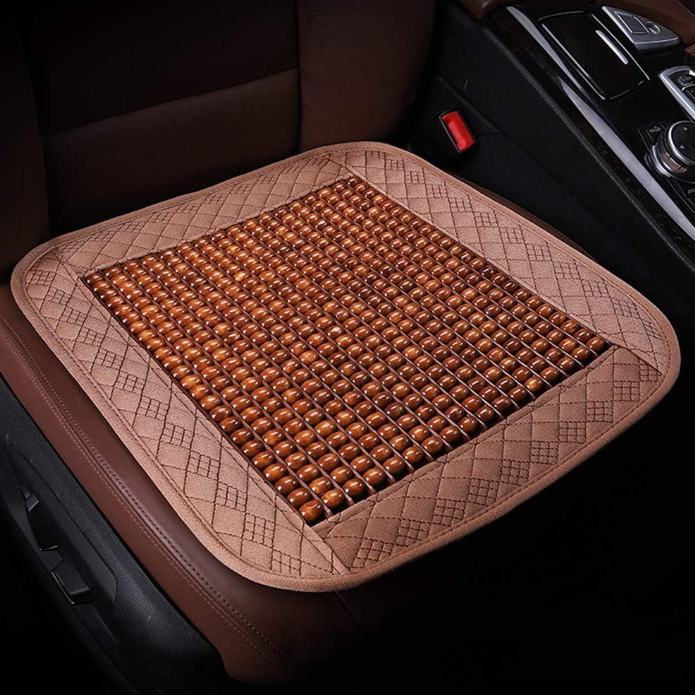 Braveking00001 Holzkugel Sitzauflage Anti Slip Atmungs Bequem Massage Kühlung Sommer Sitzbezug Für Auto Fahrer Bürostuhl Lkw Khaki Küche Haushalt