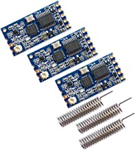 Alwayshare HC-12 433Mhz SI4463 Wireless Serial Port Module 1000m Replace Bluetooth with Antenna (Blue)