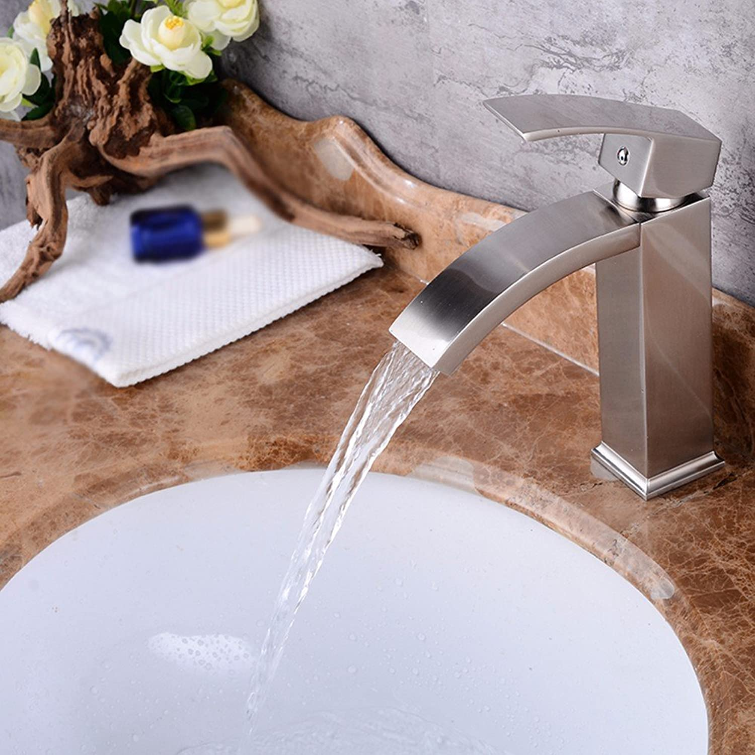 Hlluya Professional Sink Mixer Tap Kitchen Faucet Copper, hot and cold, washing your face, plus high, toilet, Single Hole Sink mixer 3