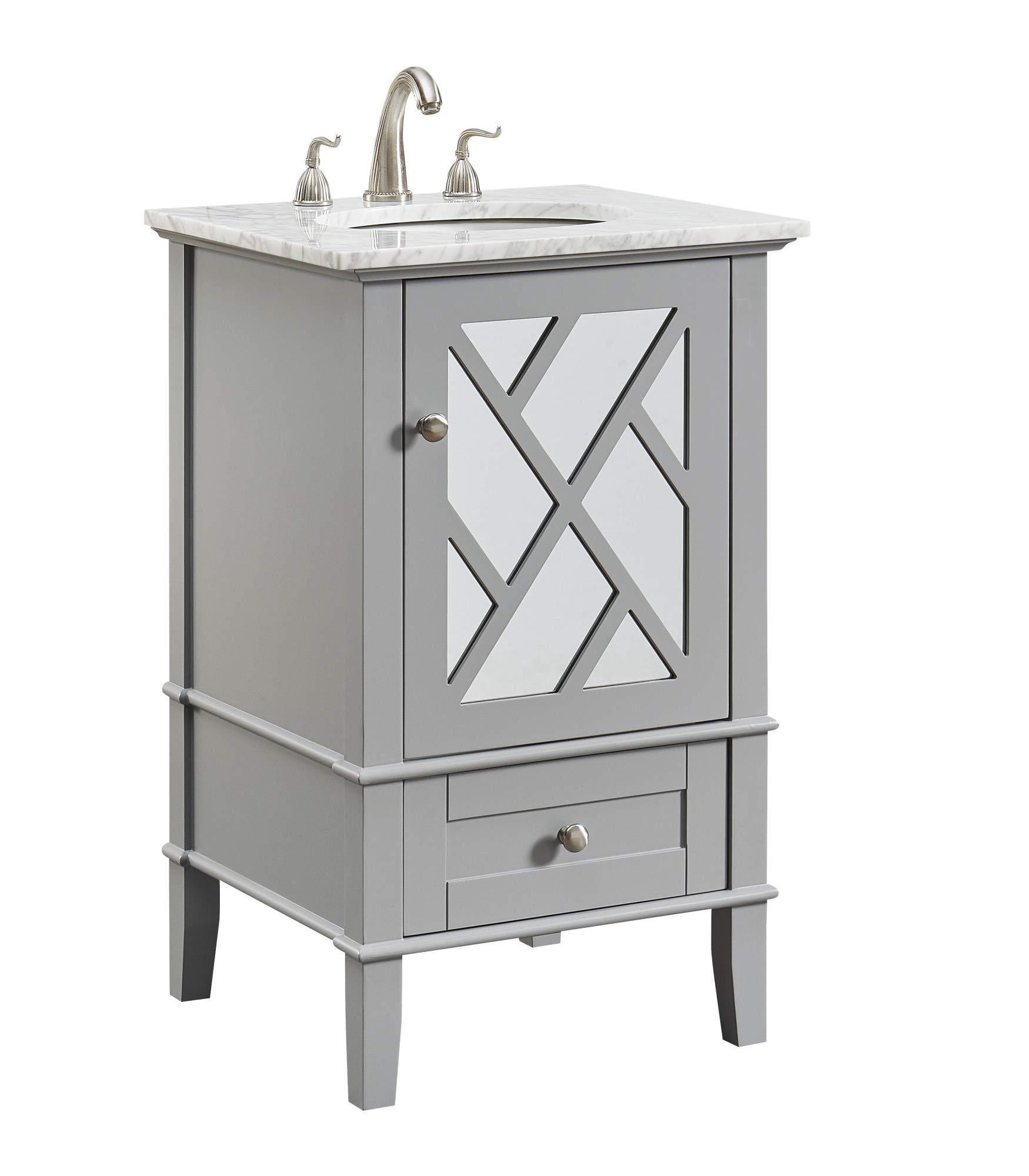 Elegant Decor 21 In Single Bathroom Vanity Set In Grey Amazon Com