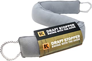Draft Stopper - Door Draft Stopper Blocker - Under Door Weather Insulator Seal 37 inches - Sticks and Swings with The Door, Never Bend,2 Lbs Heavy and Effective Under Door Draft Stopper Energy Saver