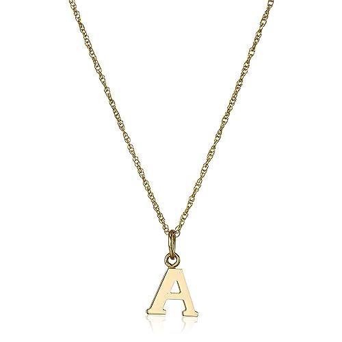 Gold Letter Necklace: Amazon.com