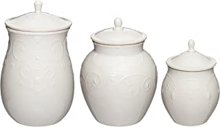 Lenox French Perle Canisters, Set of 3, White - 825738