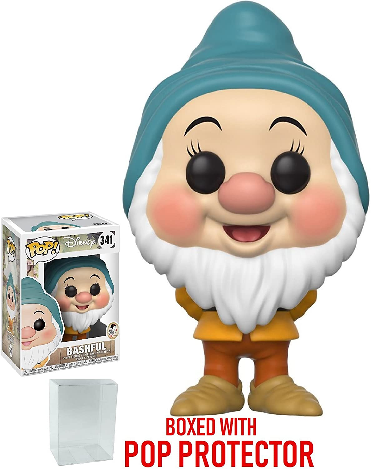 Funko Pop Disney  Snow White and The Seven Dwarfs  Bashful Vinyl Figure (Bundled with Pop Box Predector Case)