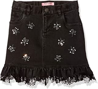 guess black denim skirt