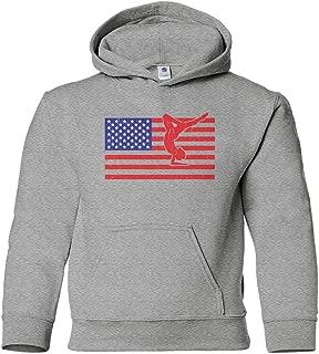 Big Girls' American Flag Gymnast Youth Hoodie Sweatshirt