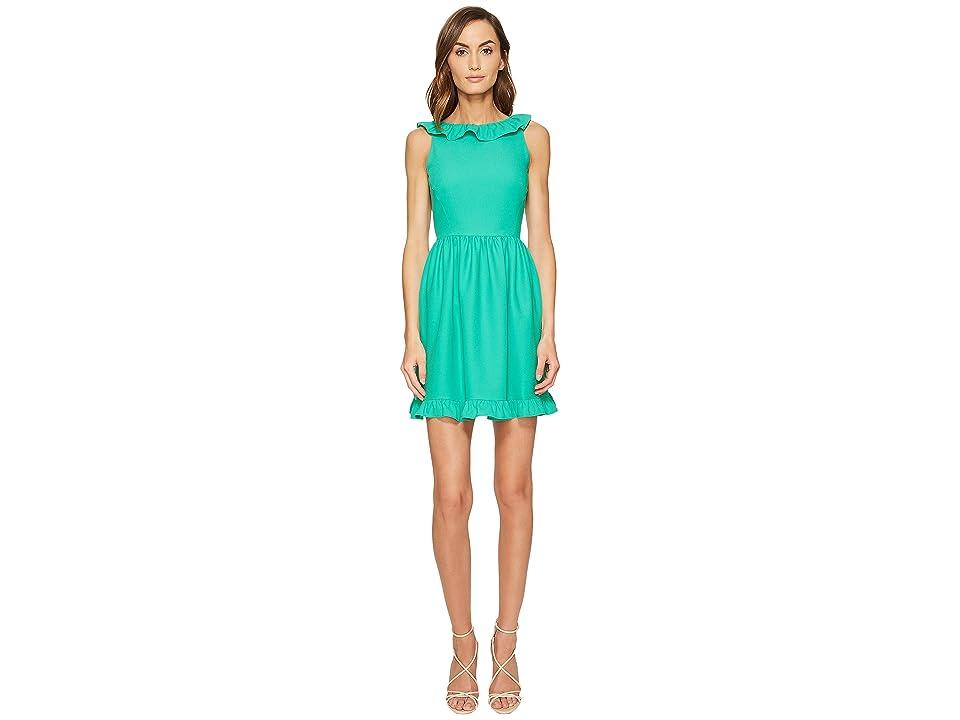 Kate Spade New York Ruffle Back Mini Dress (Beryl Green) Women