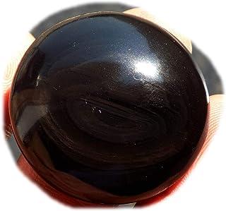 RASIO Cabujón de obsidiana negro arco iris, piedra preciosa semipreciosa natural, forma de pera de 51 quilates 36 x 26 x 8...