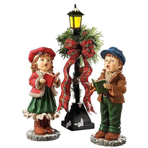 Christmas Carol Singers Figurines.Christmas Carolers Figurines Amazon Com