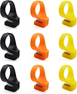 9Pcs Quilting Thread Cutter Ring Line Finger Cutting Tool for Yarn, Fishing Line(3 Colors)