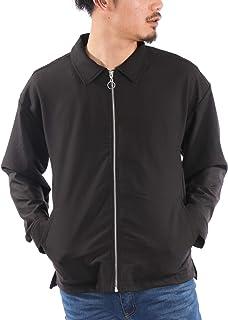 (ナイラス) NYLAUS ドリズラージャケット メンズ ビッグシルエット ビックシルエット オーバーサイズ 無地 黒 グレー ベージュ 春 夏 スイングトップ スタンドブルゾン ジャケット ブルゾン カジュアル 韓国