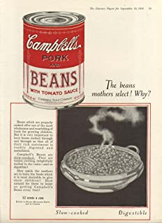 Why Mothers Select Campbell's Pork & Beans Soup ad 1926