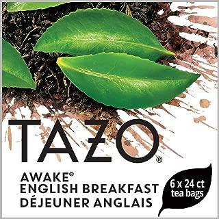 Tazo Awake English Breakfast Enveloped Hot Tea Bags Non GMO, 24 count, Pack of 6