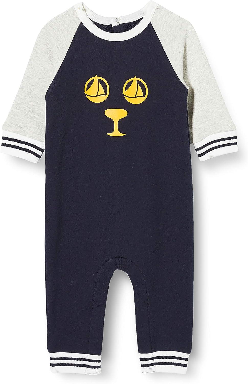 Petit Bateau Leader Jumpsuits / Dungarees Boys Marine / Grey - 12 Months - Jumpsuits / Dungarees Dress