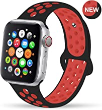 GZ GZHISY Newest Band Compatible for Apple Watch Bands 38mm 40mm 42mm 44mm, Soft Silicone Sport Band Replacement Wristband, Compatible for iWatch Apple Watch Series 5/4/3 2/1