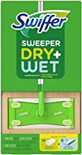 Swiffer Sweeper Dry + Wet Sweeping Kit - 1 Sweeper + 14 Dry Cloths + 6 Wet Cloths