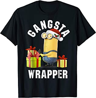Minion Gansta Wrapper Christmas T-Shirt