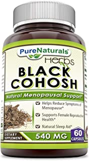 Pure Naturals Black Cohosh, 540 MG Capsules, Supplement with Pure Root Extract – All Natural Support for Womens Health and...