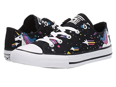 Converse Kids Chuck Taylor(r) All-Star(r) Unicorns Ox (Little Kid/Big Kid) (Black/Mod Pink/White) Girls Shoes