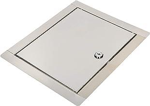 KOTARBAU® Revisieklep grootte x met sleutel roestvrij staal zilver voor revisieschachten (30x40cm)