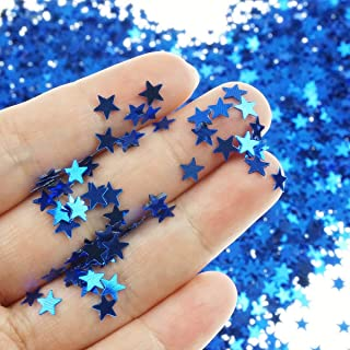 Star Confetti Holographic Stars Glitter Confetti for Christmas Decoration, Wedding Party Supplies and Nail Art - Navy, 6mm, Pack of 30 Grams