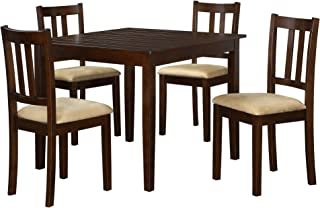 Dorel Living 5 Piece Redmond Traditional Height Dining Set, Espresso