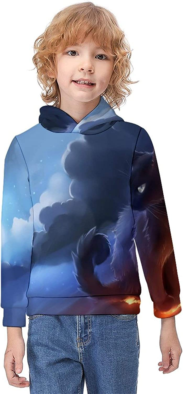 ODOKAY Unisex Kids Hooded Printed Casual Toddler Hooded T-Shirts Youth Sweatshirt Children's Long Sleeve Sports Hoodies