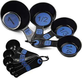 Best Chef Craft Easy to Read Plastic 10 Piece Blue/Black Measuring Cup and Spoon Set Review