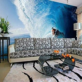 Papel tapiz Photo 3D Wallpaper Decoración para el hogar Pintura de pared Dormitorio en la sala de estar Mural Surf 3D Wallpaper para paredes,300X210cm