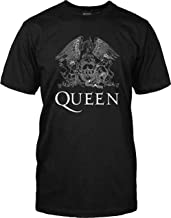 Queen Classic Logo - White on Black - Adult T-Shirt