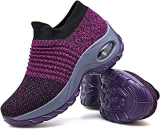 Women's Walking Shoes Sock Sneakers - Mesh Slip On Air...