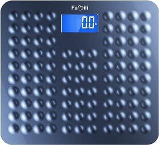 Famili 271B Bathroom Scale Digital Body Weight Scale with Non Slip Design 11lb to 400lb /..