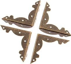 4 stuks Metalen Haakse Beugel Beugel Antiek Brons Sieraden Borst Doos Houten Kist Decoratieve Voeten Been Metalen Hoekbesc...