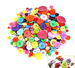 500-700 PCS Assorted Mixed Color Resin Buttons 2 and 4 Holes Round Craft for Sewing DIY Crafts Children's Manual Button Pa...