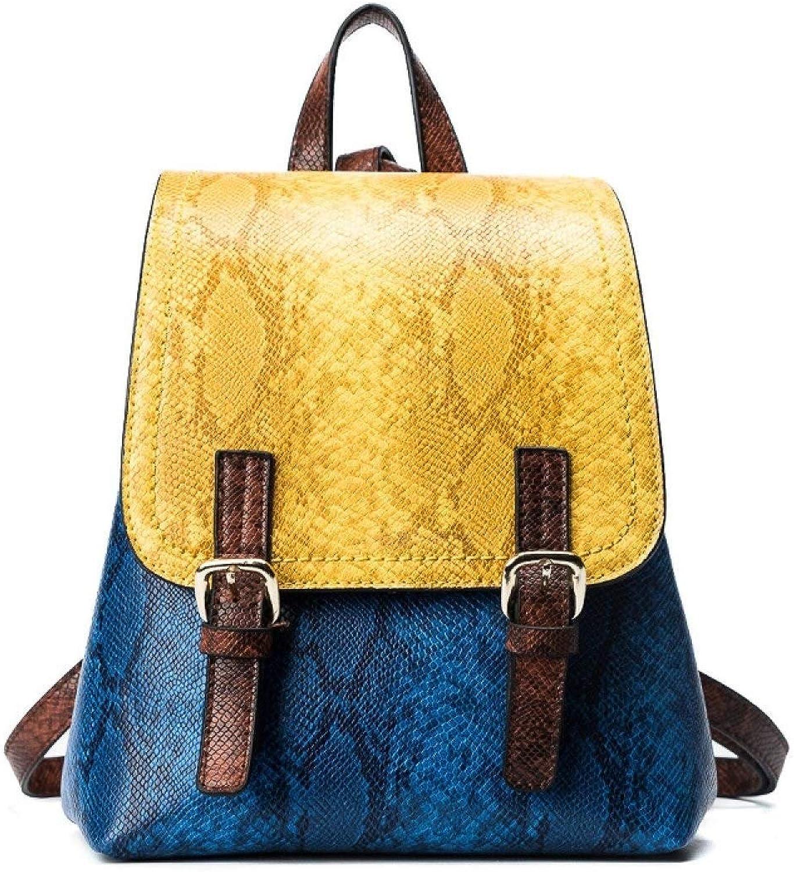 MYXMY Snake Skala Strae Kontrastfarbe Schultergurt tragbare Damenmode Mode wild lssig Gürtelschnalle Schnalle Eimer Big Bag