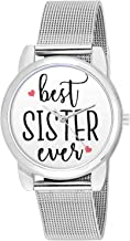 BIGOWL Analogue Women's Watch (Silver Dial Silver Colored Strap)