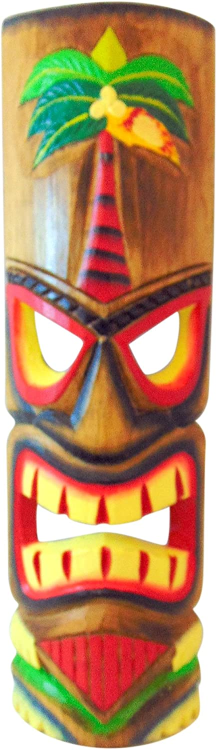 Westman Omaha Mall Al sold out. Works Tiki Mask Wall Handcarved Wooden Plaque Decor