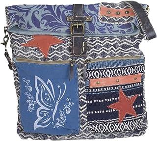 Sunsa Damen große Umhängetasche Schultertasche Crossbody Tasche Canvastasche in retro Style Vintagetasche