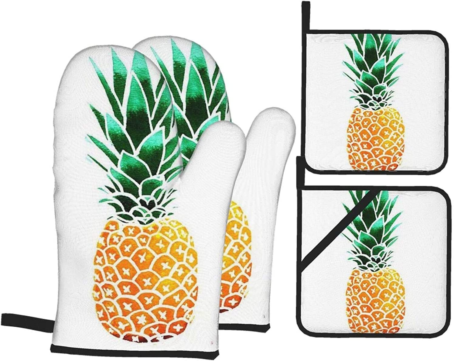 Pineapple Oven Large special price !! Mitts and Pot Holders of Trust Hot 4 Sets Resistant Pad