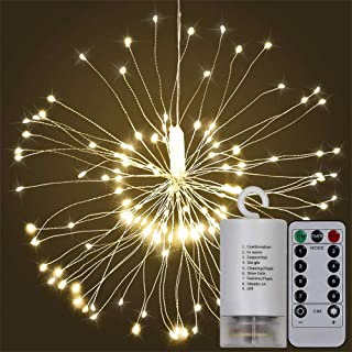 Fairy String Led Bouquet Shape Fireworks Lights, 100 LED Battery Powered Copper Wire Twinkle Micro Mini Starry Starburst Twig Light for DIY Home Tree Garden Patio Halloween Decoration -2Pack