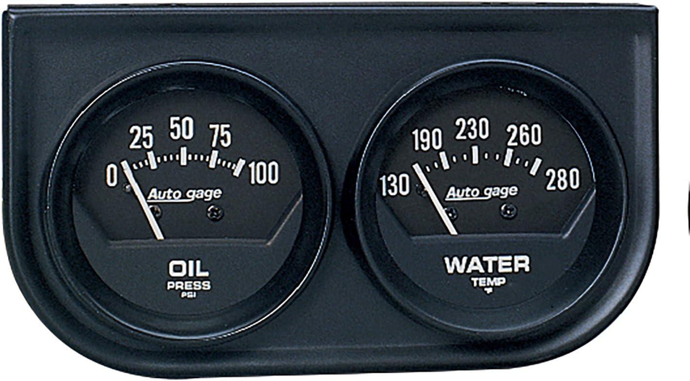 AUTO 日本限定 METER 2345 即日出荷 Autogage Black Gauge Water Oil Console