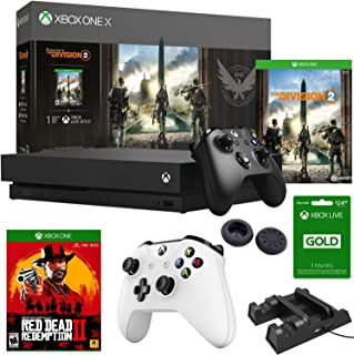 Microsoft Xbox One X Tom Clancy's The Division 2 Bundle + Red Dead Redemption 2 & More