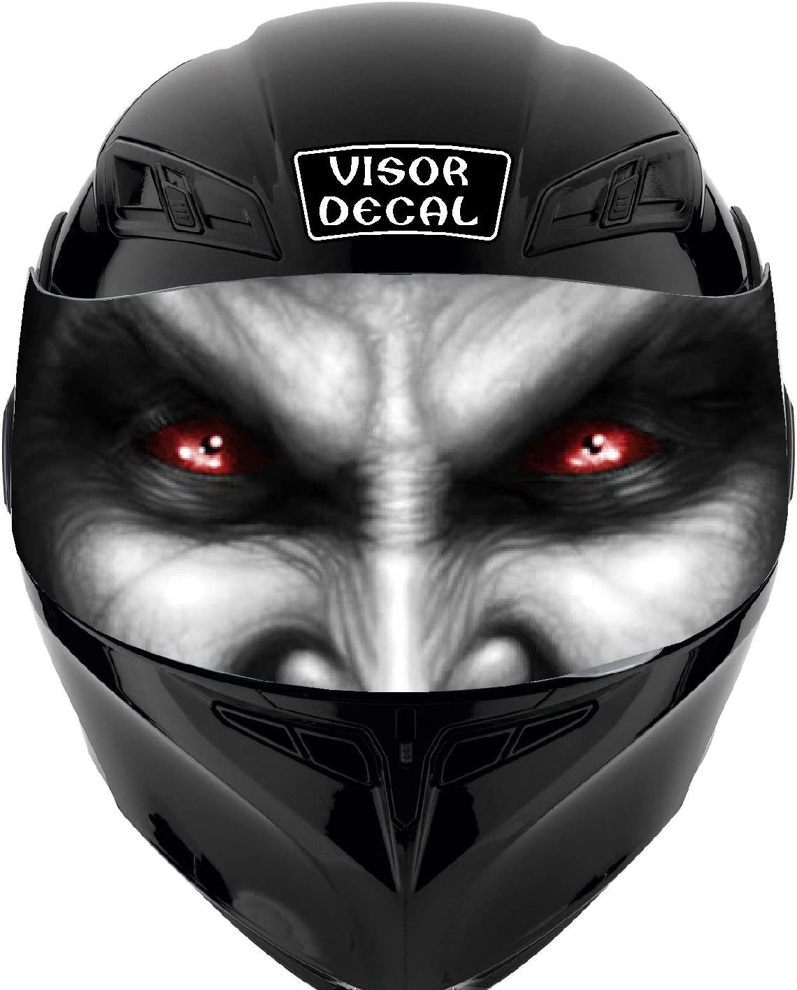 V41 Devil Demon Vampire Detroit Mall VISOR Sticker Helmet DECAL Regular dealer Graphic TINT
