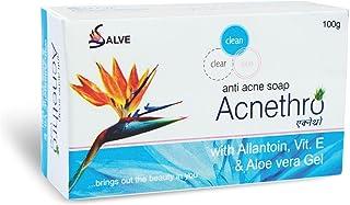 Salve Acnethro Anti Acne Soap with allantoin Vitamin E Aloe Vera (Pack of 1)