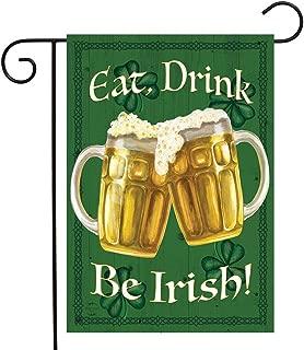 Briarwood Lane Be Irish St. Patrick's Day Garden Flag Beer Mugs 12.5