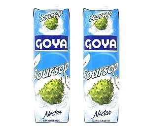 Goya Soursop Nectar (2 Pack, Total of 67.6oz)