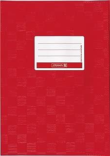 Brunnen Baier & Schneider - Sobrecubierta para libros y cuadernos tamaño A5, 15,5 x 22,0 cm, color rojo intenso