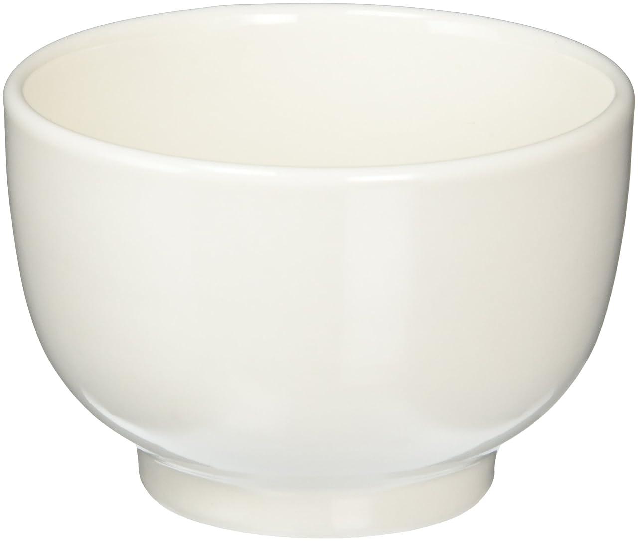 混乱したラインナップタイプ森修焼(しんしゅうやき) 汁わん 白 直径105×高さ70mm 【日本製陶器?電子レンジOK?遠赤外線?マイナスイオン】