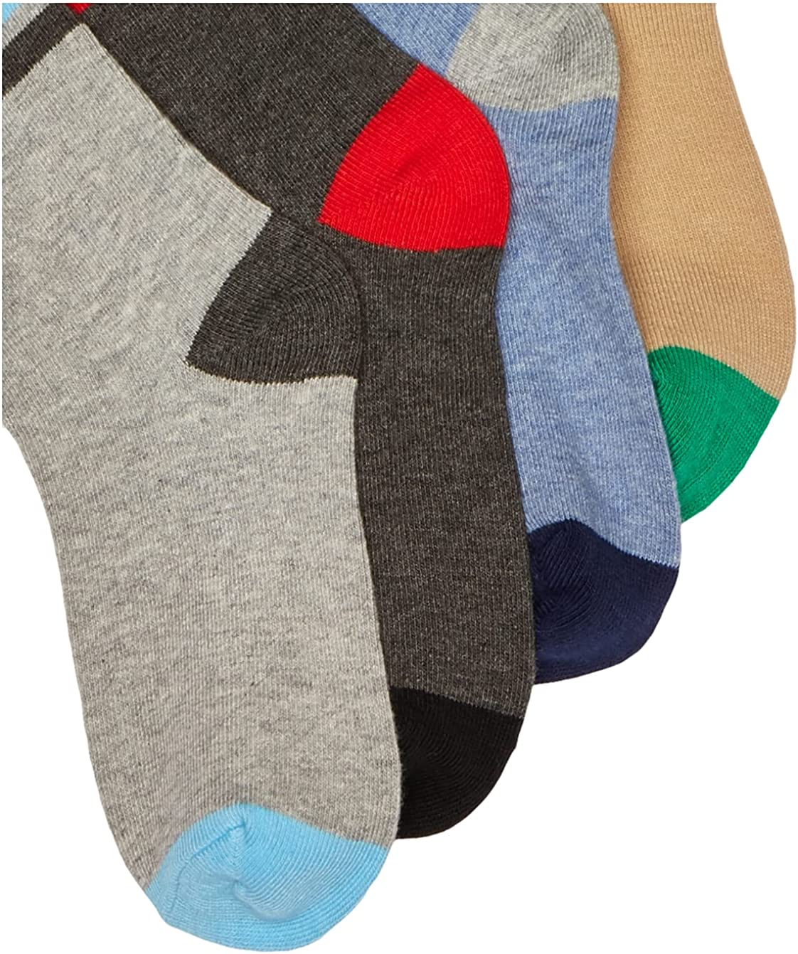 Jefferies Socks Big Boys' Stripe Crew Socks 6 Pack, Multi Size